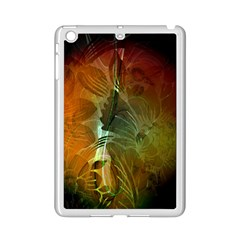 Beautiful Abstract Floral Design Ipad Mini 2 Enamel Coated Cases by FantasyWorld7