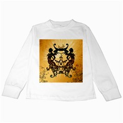 Clef With Awesome Figurative And Floral Elements Kids Long Sleeve T-shirts by FantasyWorld7