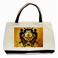 Clef With Awesome Figurative And Floral Elements Basic Tote Bag
