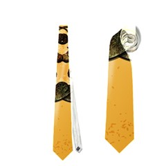 Clef With Awesome Figurative And Floral Elements Neckties (one Side)  by FantasyWorld7