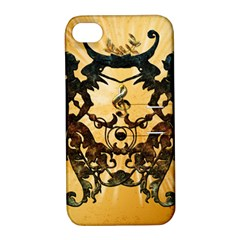 Clef With Awesome Figurative And Floral Elements Apple Iphone 4/4s Hardshell Case With Stand by FantasyWorld7