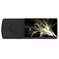 Awesome Glowing Lines With Beautiful Butterflies On Black Background Usb Flash Drive Rectangular (4 Gb)  by FantasyWorld7