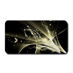 Awesome Glowing Lines With Beautiful Butterflies On Black Background Medium Bar Mats by FantasyWorld7