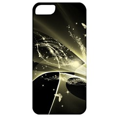 Awesome Glowing Lines With Beautiful Butterflies On Black Background Apple Iphone 5 Classic Hardshell Case by FantasyWorld7