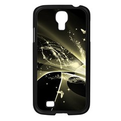 Awesome Glowing Lines With Beautiful Butterflies On Black Background Samsung Galaxy S4 I9500/ I9505 Case (black) by FantasyWorld7
