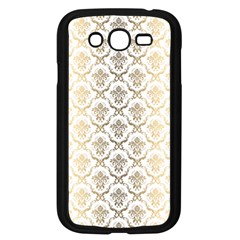 Gold Tones Vintage Floral Damasks Pattern Samsung Galaxy Grand Duos I9082 Case (black) by Dushan