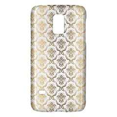 Gold Tones Vintage Floral Damasks Pattern Galaxy S5 Mini by Dushan