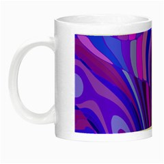 Retro Abstract Blue Pink Night Luminous Mugs by ImpressiveMoments