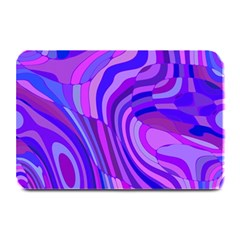 Retro Abstract Blue Pink Plate Mats