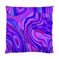 Retro Abstract Blue Pink Standard Cushion Case (one Side)  by ImpressiveMoments