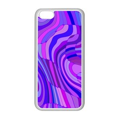 Retro Abstract Blue Pink Apple Iphone 5c Seamless Case (white) by ImpressiveMoments