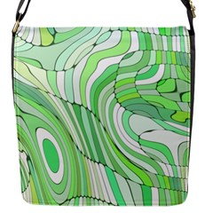Retro Abstract Green Flap Messenger Bag (s) by ImpressiveMoments