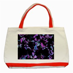 Splatter Blue Pink Classic Tote Bag (red)  by MoreColorsinLife