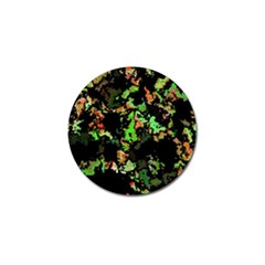 Splatter Red Green Golf Ball Marker
