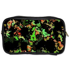 Splatter Red Green Toiletries Bags 2 Side by MoreColorsinLife