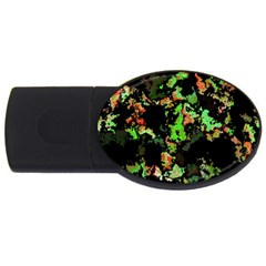 Splatter Red Green Usb Flash Drive Oval (4 Gb)