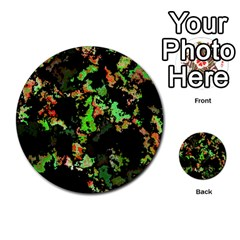 Splatter Red Green Multi Purpose Cards (round)  by MoreColorsinLife