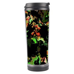 Splatter Red Green Travel Tumblers by MoreColorsinLife