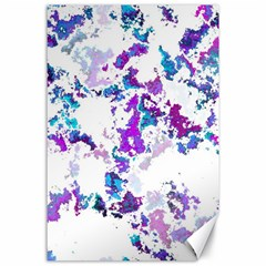 Splatter White Lilac Canvas 24  X 36  by MoreColorsinLife