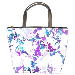 Splatter White Lilac Bucket Bags by MoreColorsinLife