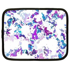 Splatter White Lilac Netbook Case (xl)  by MoreColorsinLife