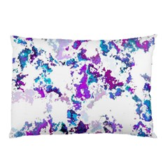 Splatter White Lilac Pillow Cases (two Sides) by MoreColorsinLife