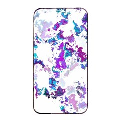 Splatter White Lilac Apple Iphone 4/4s Seamless Case (black) by MoreColorsinLife
