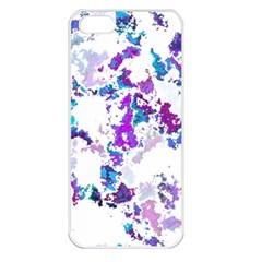 Splatter White Lilac Apple Iphone 5 Seamless Case (white) by MoreColorsinLife