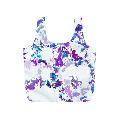 Splatter White Lilac Full Print Recycle Bags (s)  by MoreColorsinLife