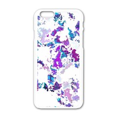 Splatter White Lilac Apple Iphone 6/6s White Enamel Case by MoreColorsinLife