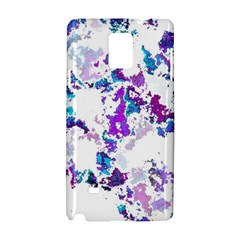 Splatter White Lilac Samsung Galaxy Note 4 Hardshell Case by MoreColorsinLife