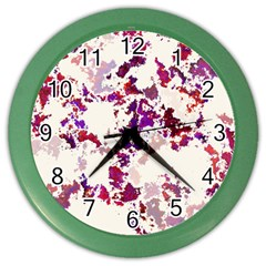 Splatter White Color Wall Clocks by MoreColorsinLife