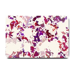 Splatter White Small Doormat  by MoreColorsinLife