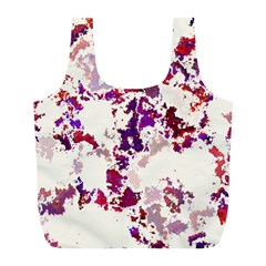 Splatter White Full Print Recycle Bags (l)  by MoreColorsinLife