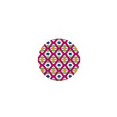 Honeycomb In Rhombus Pattern 1  Mini Button by LalyLauraFLM