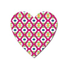 Honeycomb In Rhombus Pattern Magnet (heart) by LalyLauraFLM
