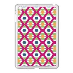 Honeycomb In Rhombus Pattern Apple Ipad Mini Case (white) by LalyLauraFLM
