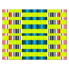 Rectangles And Vertical Stripes Pattern Jigsaw Puzzle (rectangular) by LalyLauraFLM