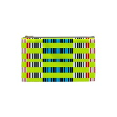 Rectangles And Vertical Stripes Pattern Cosmetic Bag (small) by LalyLauraFLM