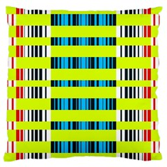 Rectangles And Vertical Stripes Pattern Large Cushion Case (two Sides) by LalyLauraFLM