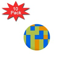 Tetris Shapes 1  Mini Button (10 Pack)  by LalyLauraFLM