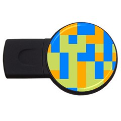 Tetris Shapes Usb Flash Drive Round (2 Gb) by LalyLauraFLM