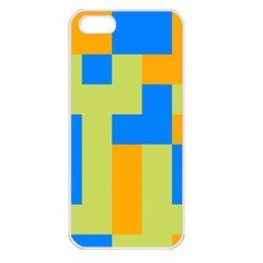 Tetris Shapes Apple Iphone 5 Seamless Case (white) by LalyLauraFLM