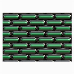 Green 3d Rectangles Pattern Large Glasses Cloth (2 Sides) by LalyLauraFLM