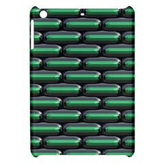 Green 3d Rectangles Pattern Apple Ipad Mini Hardshell Case by LalyLauraFLM