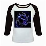 Orca With Glowing Line Jumping Out Of A Circle Mad Of Water Kids Baseball Jerseys Front