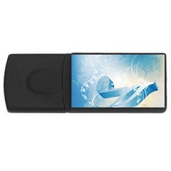 Music Usb Flash Drive Rectangular (4 Gb)  by FantasyWorld7