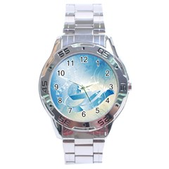 Music Stainless Steel Men s Watch by FantasyWorld7