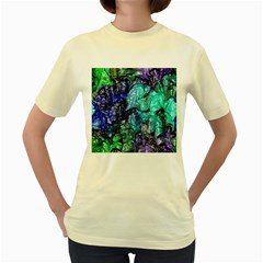Strange Abstract 1 Women s Yellow T-shirt by MoreColorsinLife