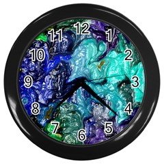 Strange Abstract 1 Wall Clocks (black) by MoreColorsinLife